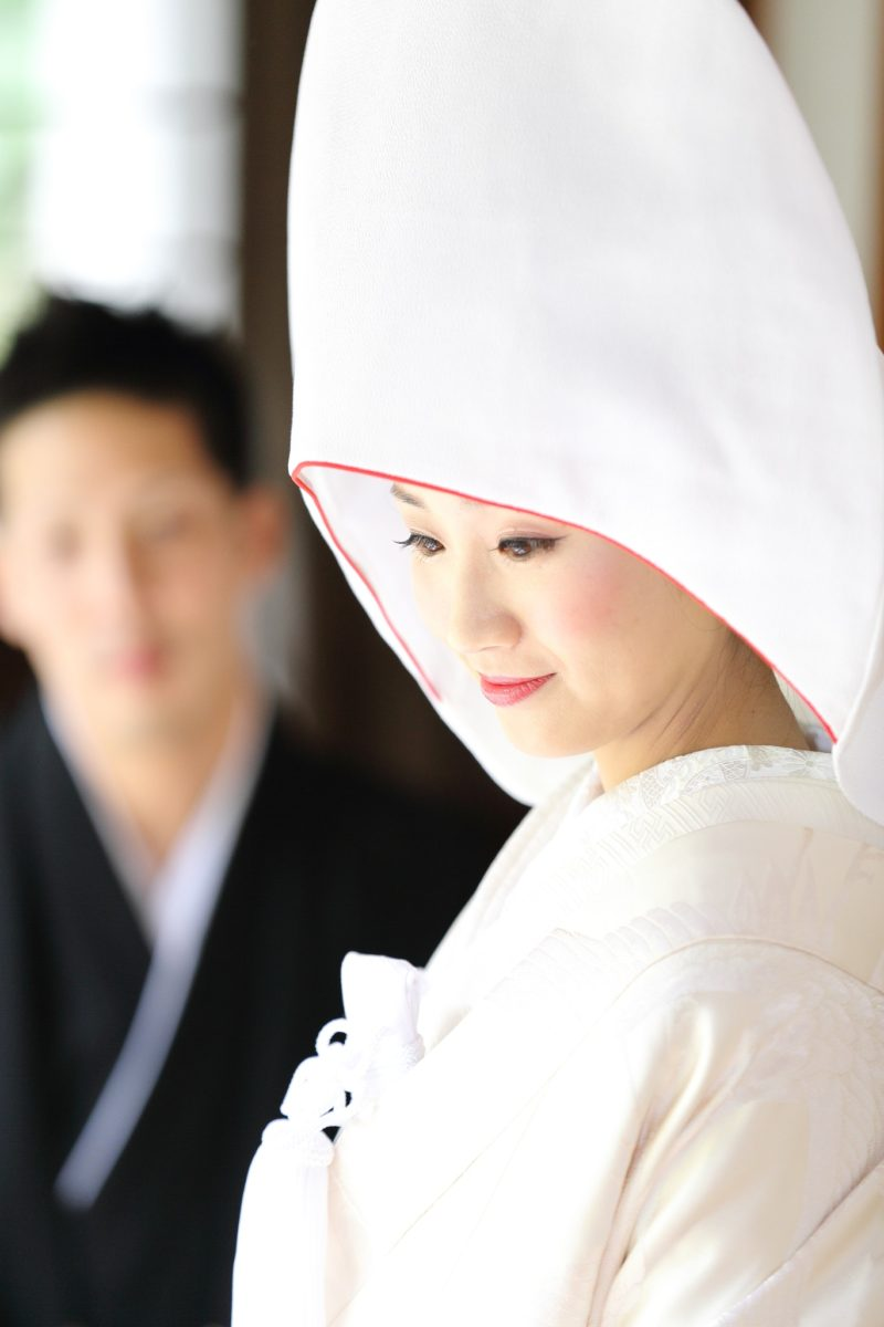 和装前撮り|白無垢|綿帽子